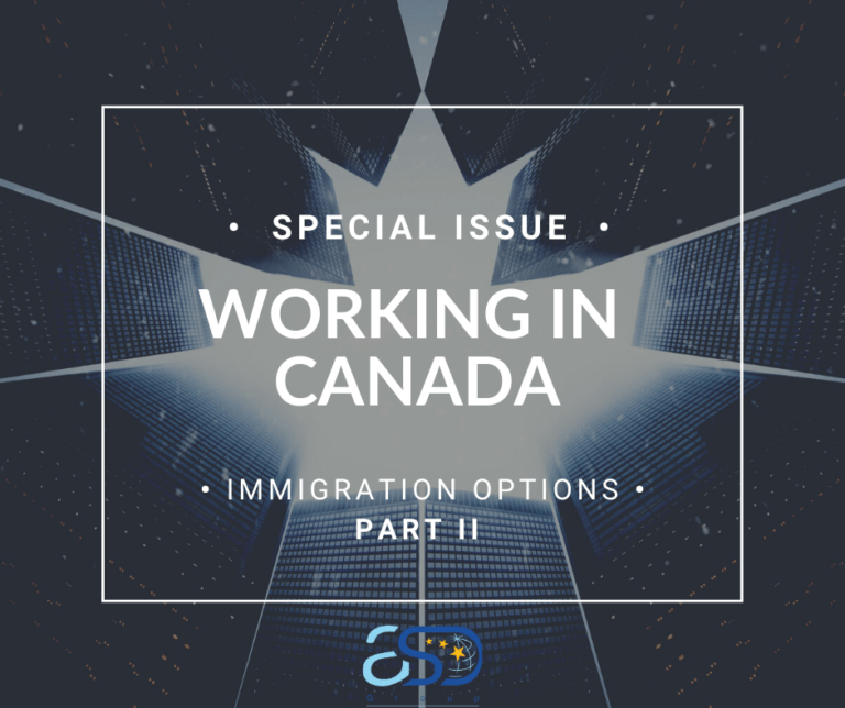Working in Canada: the options of immigration